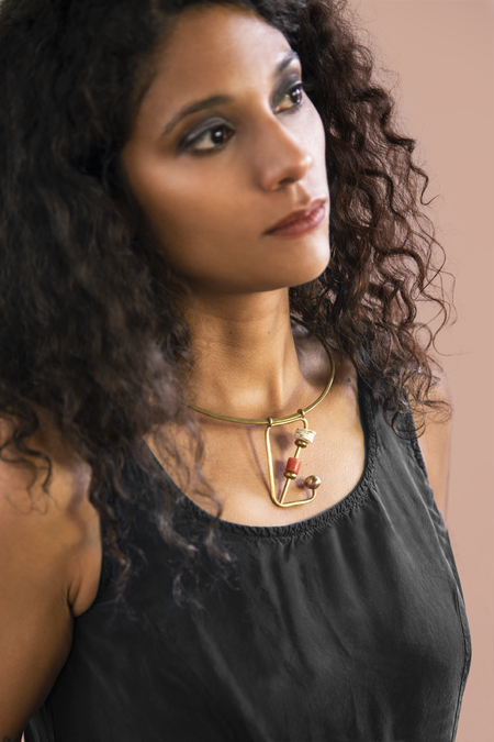 Moon + Arrow Altar Necklace
