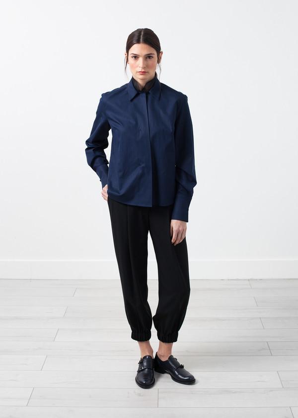 Gianfranco Scotti Sheer Silk Collar Button Up