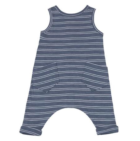 KIDS 1+ In The Family Piet Sleeveless Jumpsuit - Indigo Blue With White Stripes
