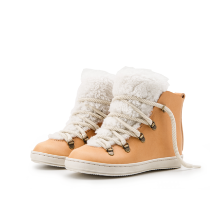KIDS ZUZII FOOTWEAR SHEARLING BOOTS - NATURAL