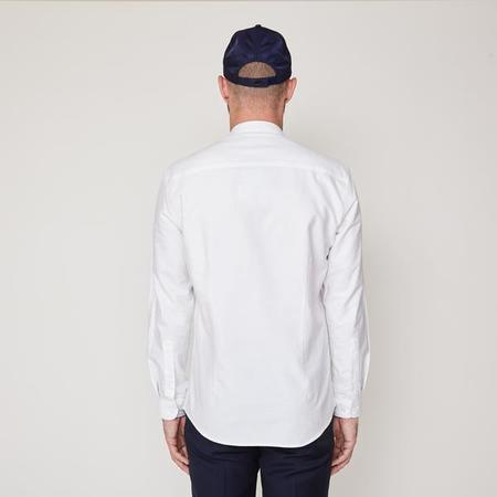 Suit Oxford Mandarin Shirt - White