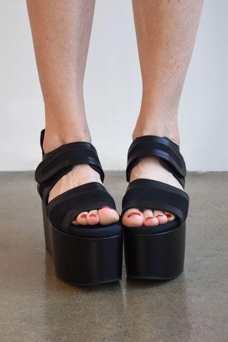 Marni Canvas Wedge Sandal - Black