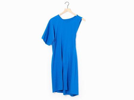 MM6 Asymmetric Jersey Dress - Blue