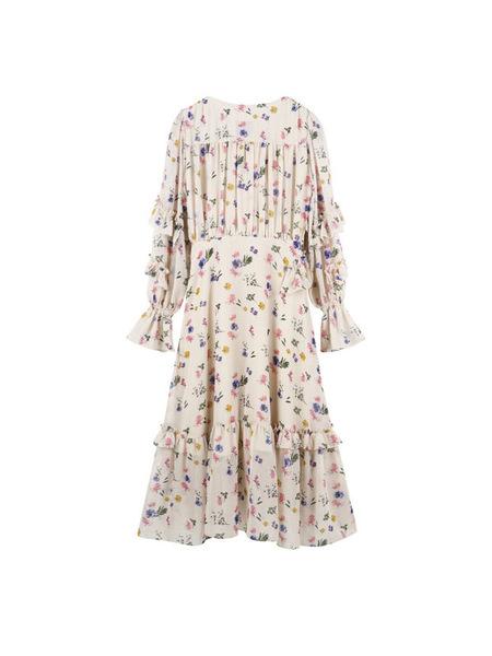 JOHNNY HATES JAZZ Floral Ruffle Dress - Ivory