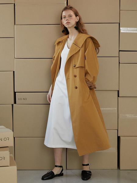 En Or Marine Trench Coat - Mustard