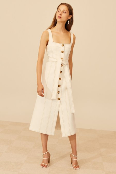 Cameo Devoted Midi Dress - Ivory