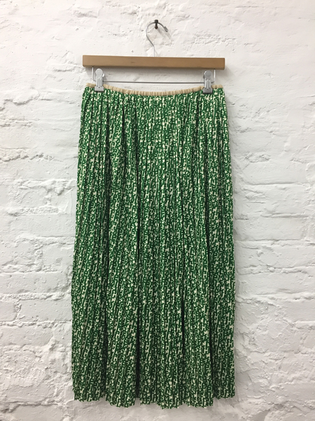 A Détacher Seraphine Skirt in Green Multi Logo Print