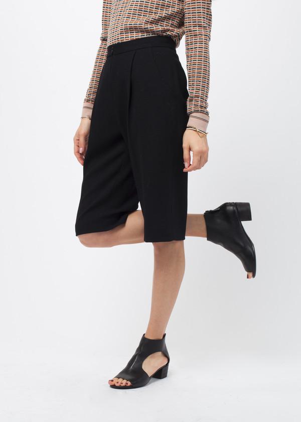 Amelia Toro Wool Crepe Bermuda Short