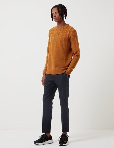 Barbour Crastill Cable Knit Sweatshirt - Mustard