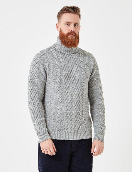 Edwin United Knit Roll Neck Jumper - Grey