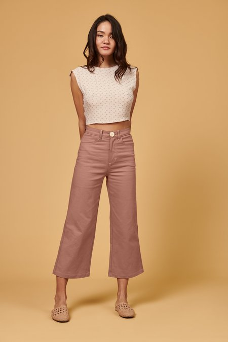 Whimsy + Row Flora Pant - Rose