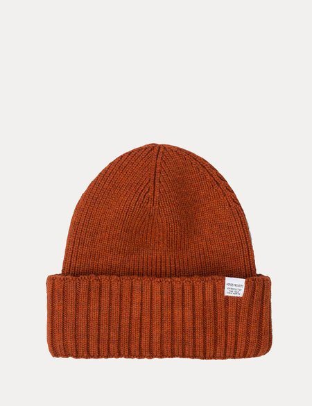 acce490f7a7 ... Norse Projects Chunky Rib Beanie Hat - Oxide Orange