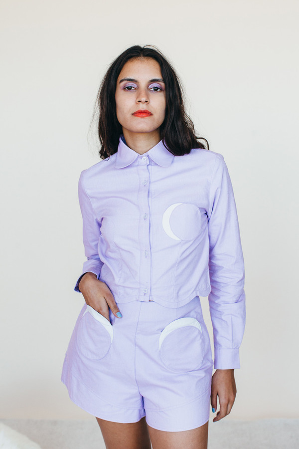 Moon Shorts - Lavender