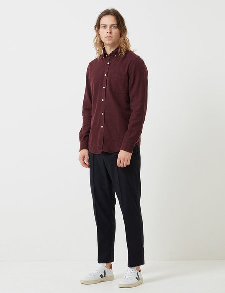 Portuguese Flannel Teca Shirt - Bordaeux