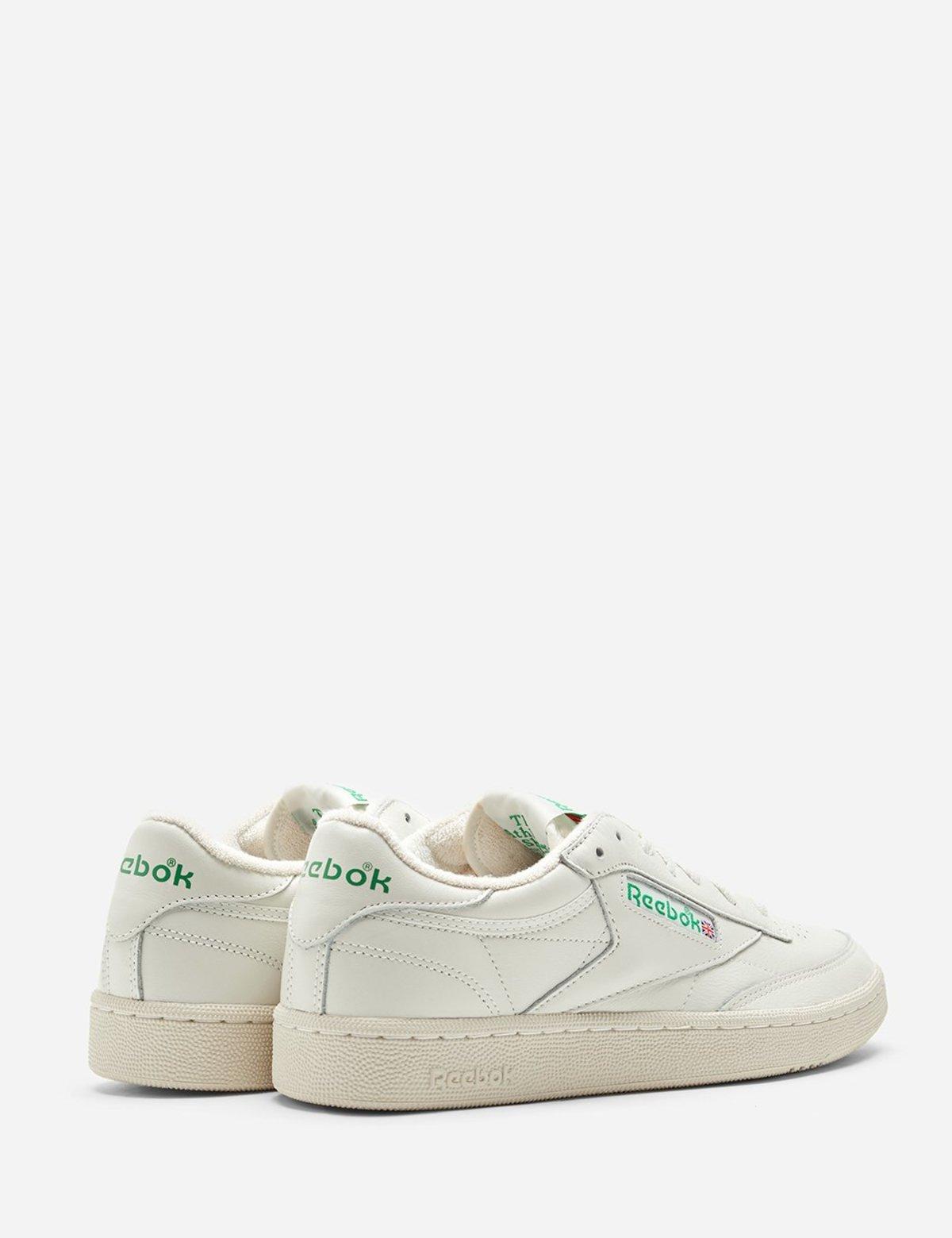 5468e0a0 Reebok Club C 1985 Trainers - Chalk/Paper White/Green | Garmentory