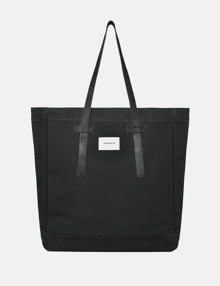 Sandqvist Stig Tote Bag in Canvas - Black