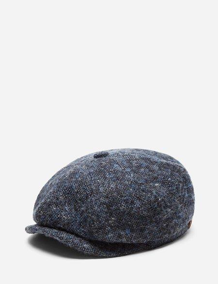 Stetson Hatteras Donegal Newsboy Cap in Wool - Blue