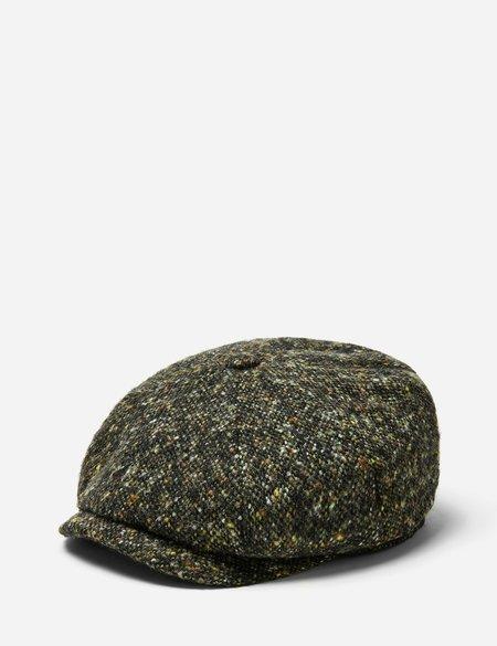 Stetson Hatteras Donegal Newsboy Cap in Wool - Green/Brown