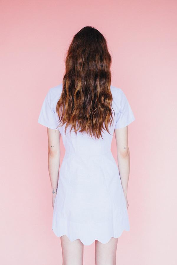 Wave dress - ivory