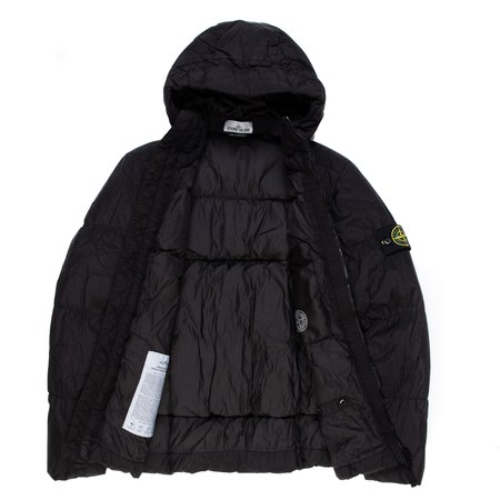 Stone Island Real Down Outerwear - Black