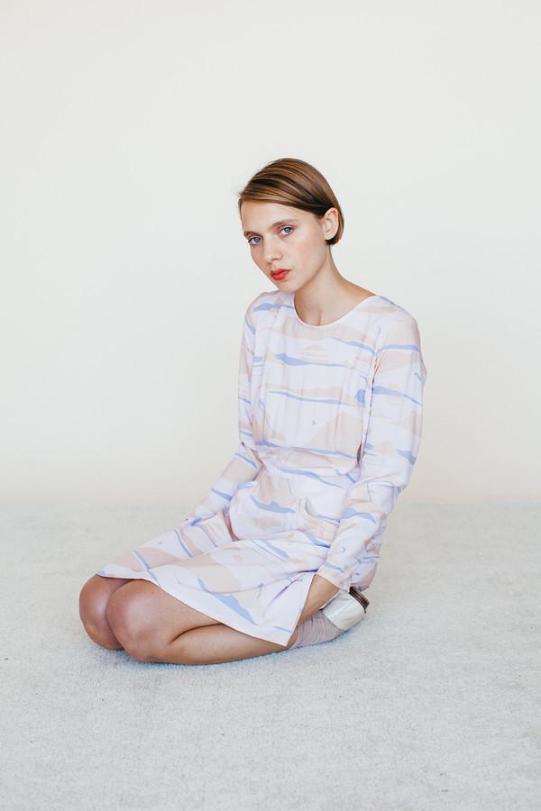 Samantha Pleet Galactic Dress - Landscape Print