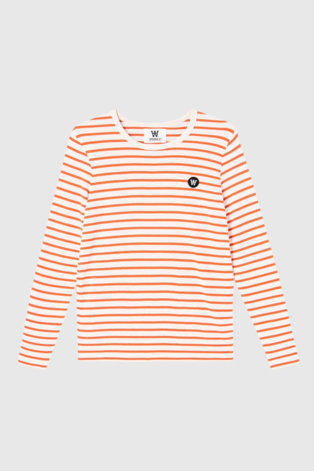 6b492ce1272 Wood Wood Moa L\S T-Shirt - Off White/Orange Stripe | Garmentory