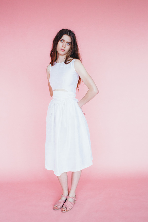 Samantha Pleet Satyr dress - ivory