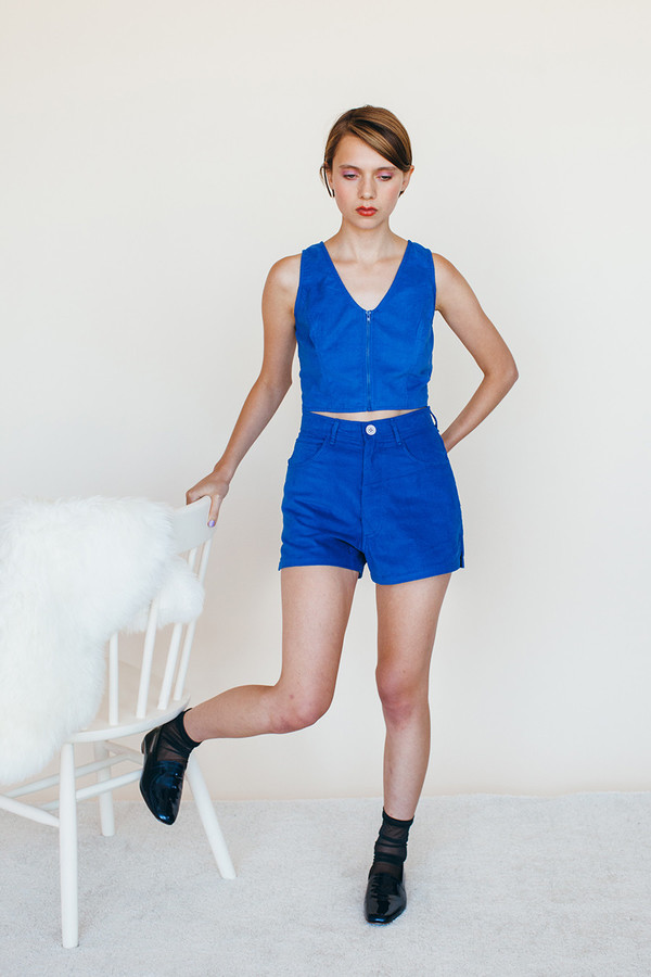 Samantha Pleet Unicorn Shorts - Blue