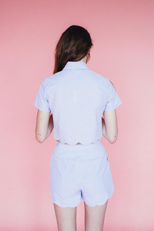 Samantha Pleet Wave blouse - lavendar