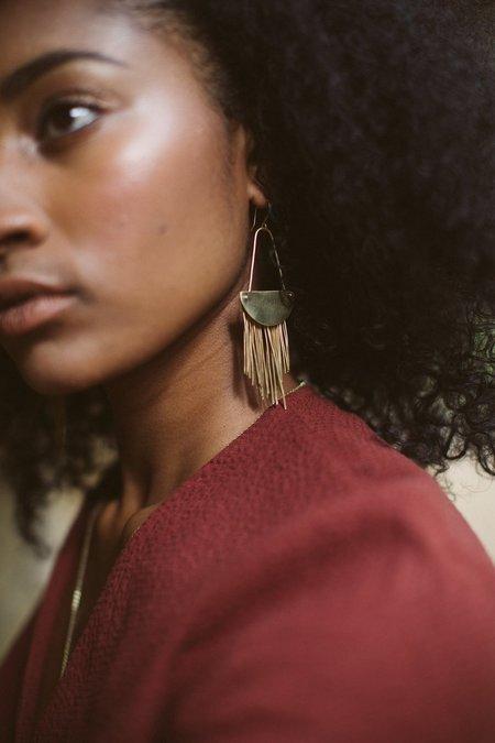 Avery Lee Calliope Earrings - Brass