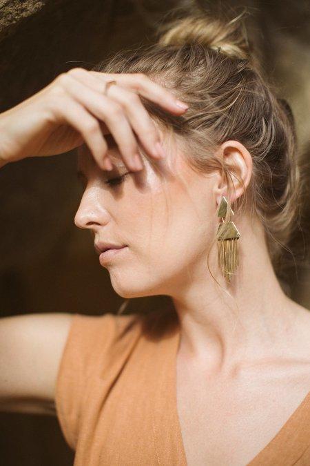 Avery Lee Clio Earrings - Brass