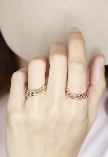 Gabriela Artigas Chain Ring - 14k Yellow