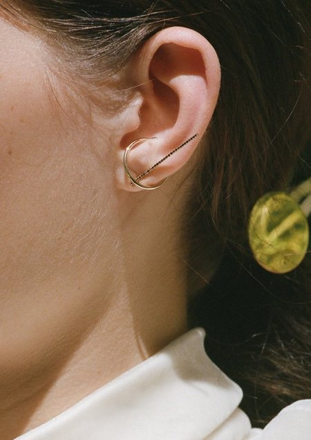 Gabriela Artigas Disc Ear Cuff - 14K Gold