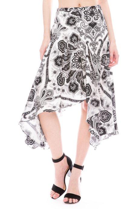Caroline Constas Flounce Skirt - Floral Paisley Print