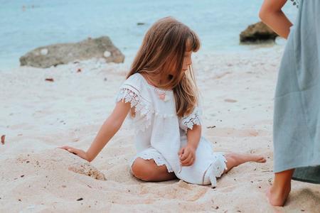 KIDS Louise Misha Grenadine Dress - White