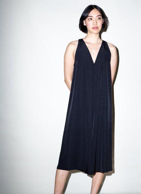 KAAREM Sum Sleeveless V-Neck Silk Dress - Black
