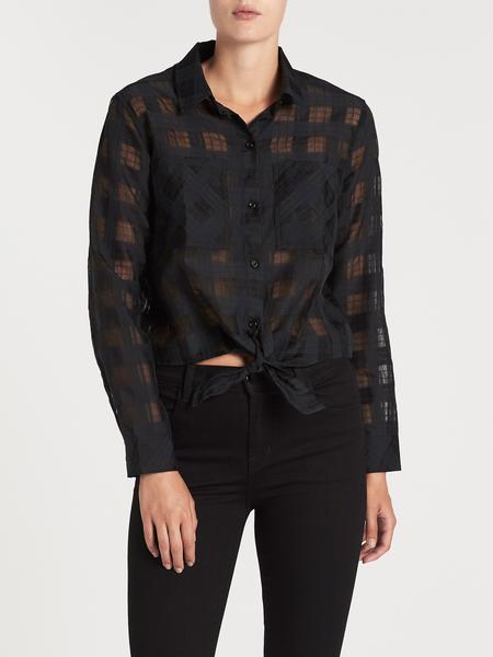 Rails Kelsey Woven Shirt - Black Shadow Plaid