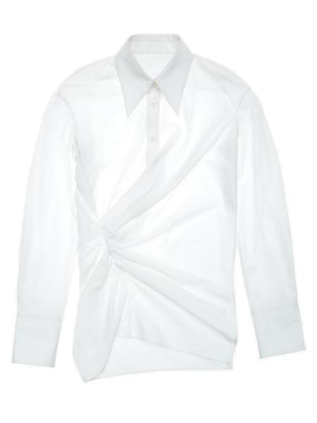 Helmut Lang Poplin Draped Shirt
