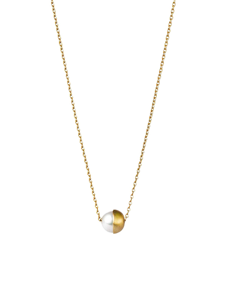 Shihara 1/2 Pearl Necklace 90 - 18k Gold