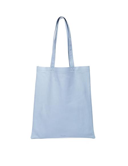 Isaac Reina Ultra Soft Leather Tote Bag - Blue