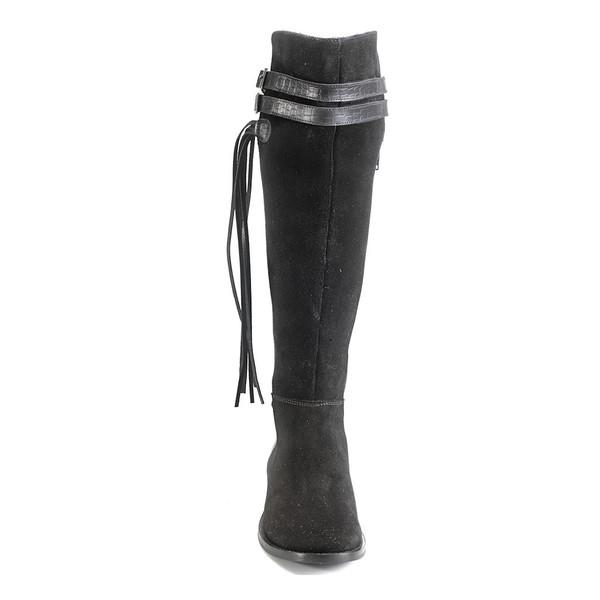 Artemisia Vesta Knee High Black Leather Boots