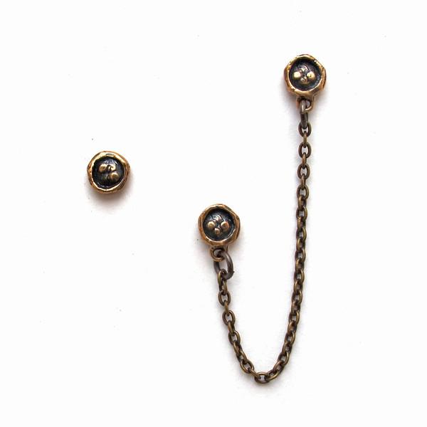 Laurel Hill Asymmetrical Medallion Earrings