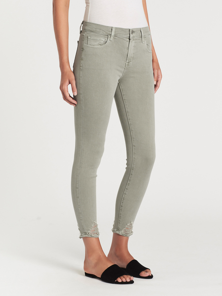 J Brand 835 Mid Rise Skinny Crop - Faded Gibson Destruct