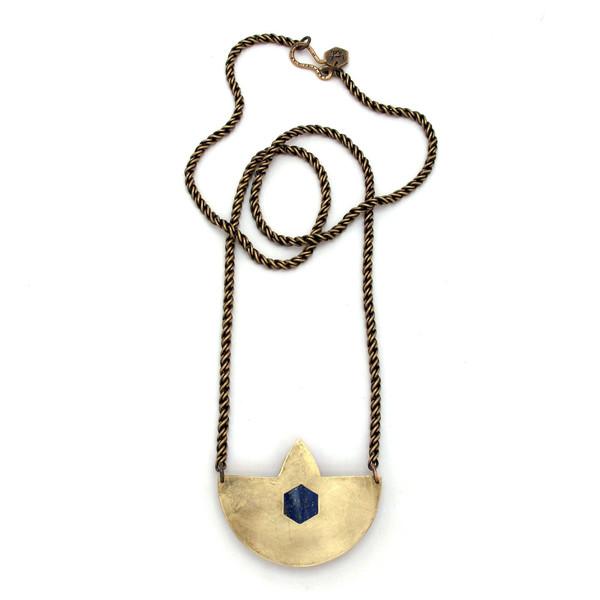 Laurel Hill Compass Necklace // Lapis