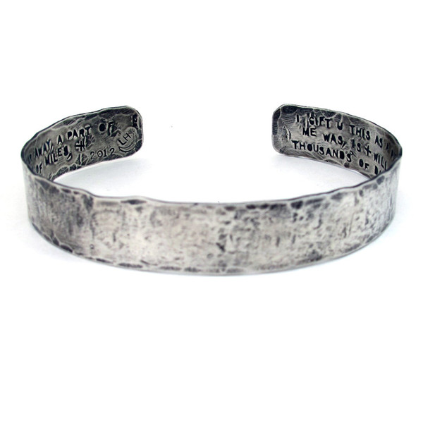 Laurel Hill Custom Rustic Cuff // personalized with your text
