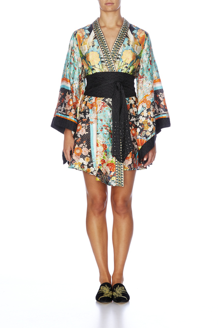CAMILLA Kimono Wrap Dress with Obi