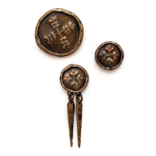 Laurel Hill Medallion Brooches