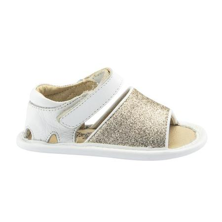Kids Old Soles Glam Bub Sandals - Snow White/Gold