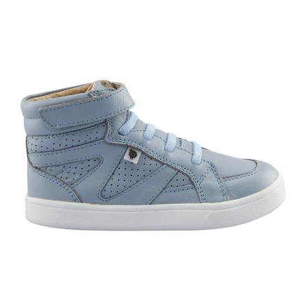 KIDS Old Soles Starter Shoes - Dusty Blue With White Soles