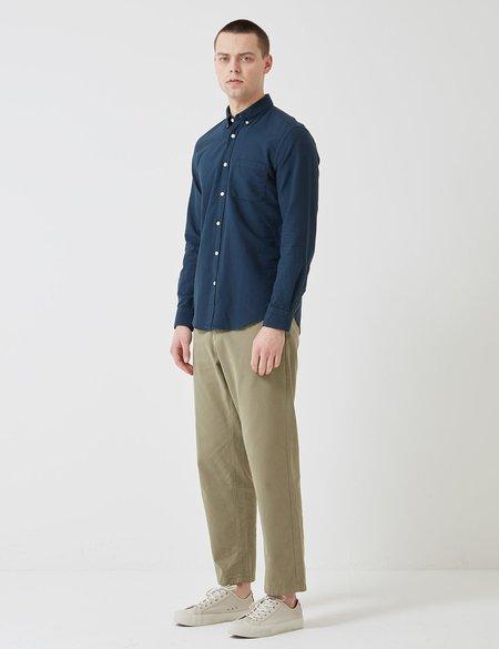 Portuguese Flannel Belavista Button Down Shirt - Navy Blue